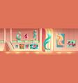 contemporary art exhibition cartoon concept vector image vector image