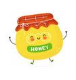 cute funny honey character hand drawn vector image vector image