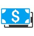 Dollar Banknotes Flat Icon vector image