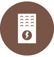 electric furnace vector image