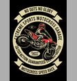 extreme motorcross vector image