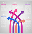 Five bright different way infographics vector image vector image