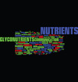 glyconutrients an overview text background word vector image vector image