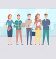 group people coworkers and colleagues vector image