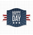 Happy Independence Day festive Label vector image vector image