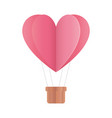 happy valentines day hot air balloon shape heart vector image vector image