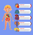 health poster with human body anatomy