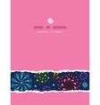 Holiday fireworks vertical torn seamless pattern vector image