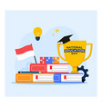indonesia national education day flat design vector image vector image