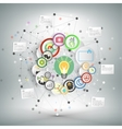 Infographic network with icons for business vector image