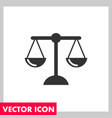 law icon vector image