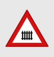 level crossing signal vector image