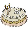 Light birthday cake vector image
