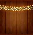 lights on wood background vector image vector image