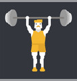 man doing weightlifting vector image vector image