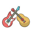 music instrument cartoon vector image