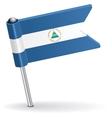 Nicaraguan pin icon flag vector image vector image