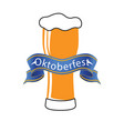 oktoberfest blue ribbon beer background ima vector image vector image