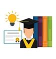 Online training design Education concept vector image