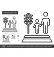 parental care line icon vector image vector image