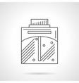 Perfume spray flat line icon vector image vector image