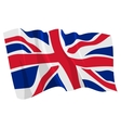 political waving flag of united kingdom vector image vector image