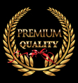 Premium quality golden laurel wreath vector image vector image