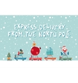 Santas Express From The North Pole vector image
