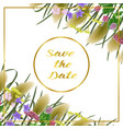 save the date card with seven herbs vector image
