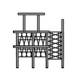 scaffold vector image vector image