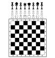 set of chess and chessboard vector image