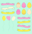 set of colored silhouettes of isolated easter vector image