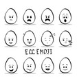 set of egg emoji isolated on white background vector image vector image