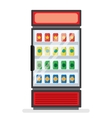 showcase refrigerator for cooling drinks vector image vector image