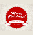 simple vintage retro christmas card vector image