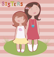 sisters vector image vector image