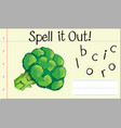 spell english word broccoli vector image