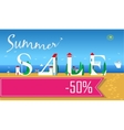 Summer Sale Fifty percents Artistic font vector image vector image