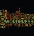 the latest on wordpress themes text background vector image vector image