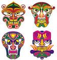 tribal masks vector image