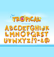 tropical font vector image
