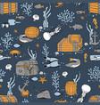 underwater world pattern vector image vector image