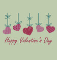 valentine greeting card with red and pink heart vector image vector image