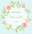 watercolor beautiful english rose flower bouquet vector image