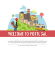 Welcome to portugal travel poster of portuguese