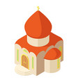 western church icon isometric style vector image vector image