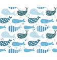 whales pattern with dots vector image