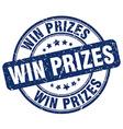 win prizes blue grunge round vintage rubber stamp vector image