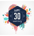 anniversary - abstract background with icons vector image