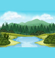 a nature stream view vector image vector image